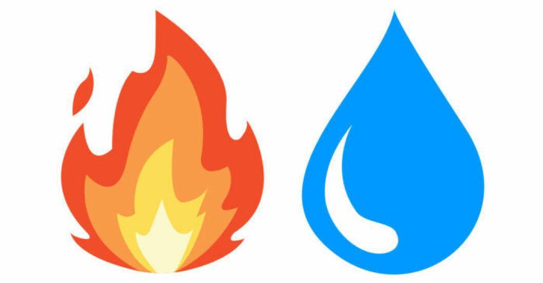 Eld och vatten som halloweenoutfit
