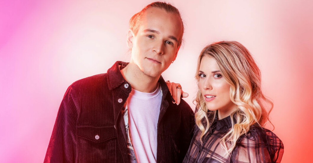 Ellen Benediktson och Simon Peyron melodifetivalen 2020 tt
