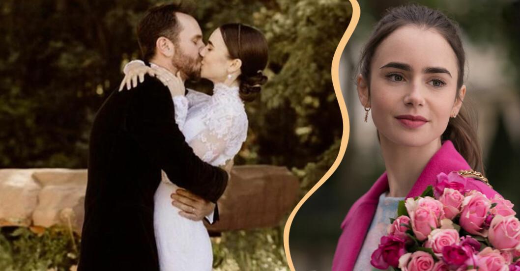 Lily Collins har gift sig – allt om bröllopet med filmregissören