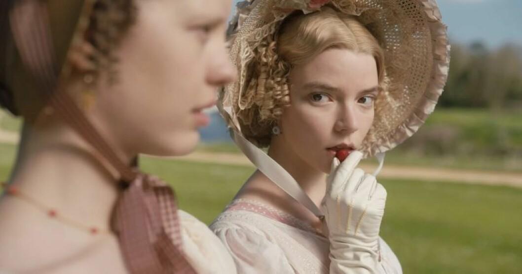 En bild från den nya filmen Emma, med biopremiär på Filmstaden den 14 februari 2020.
