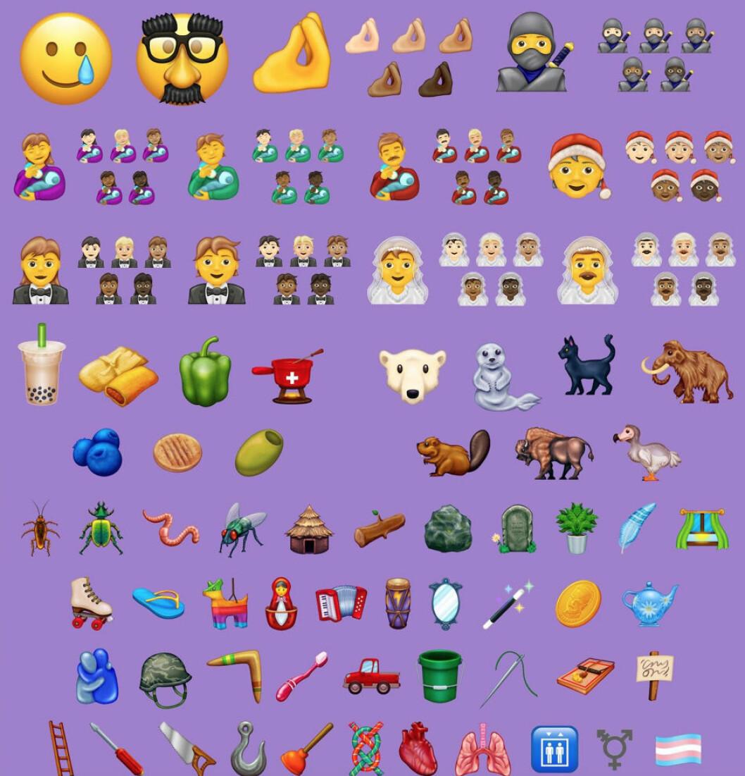 Alla 117 nya emojis för 2020.