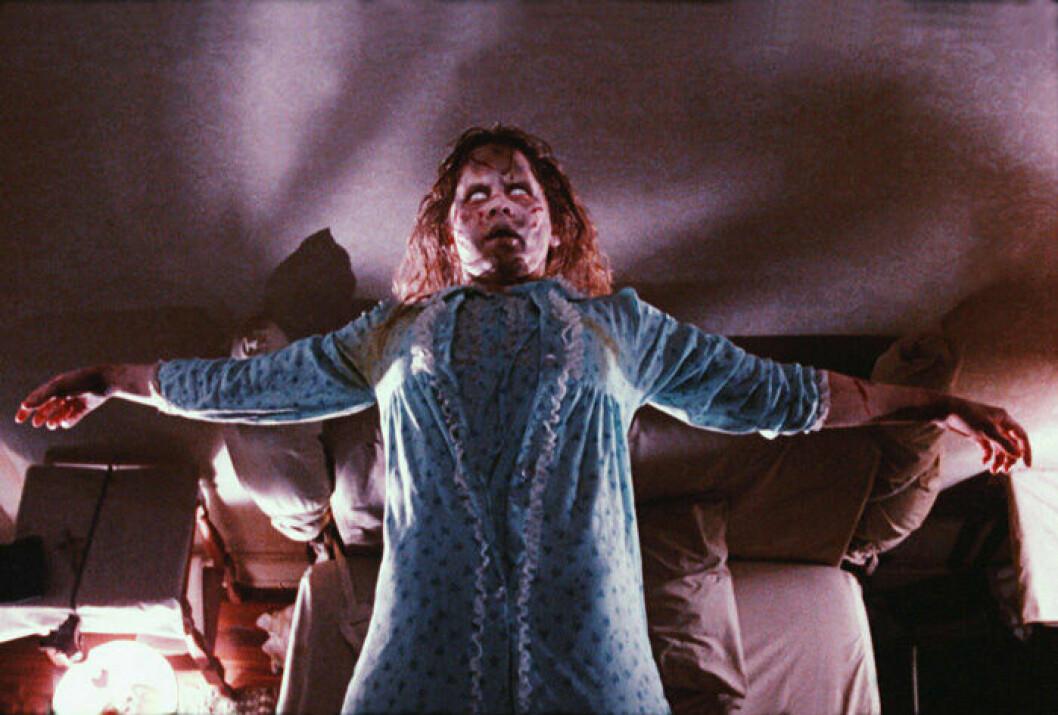 En bild från Exorcisten, en amerikansk skräckfilm av William Friedkin.