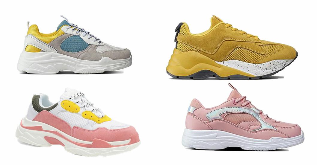 Chunky sneakers i färg