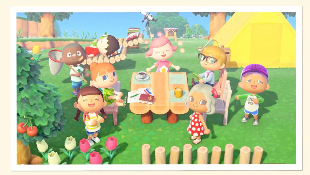 Du kan spela Animal Crossing med dina vänner.