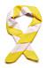 Gul/rosa scarf till håret