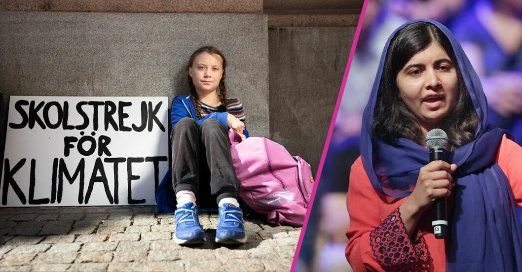 Malala och Greta Thunberg