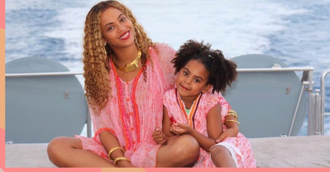 Beyonce och dottern Blue Ivy.