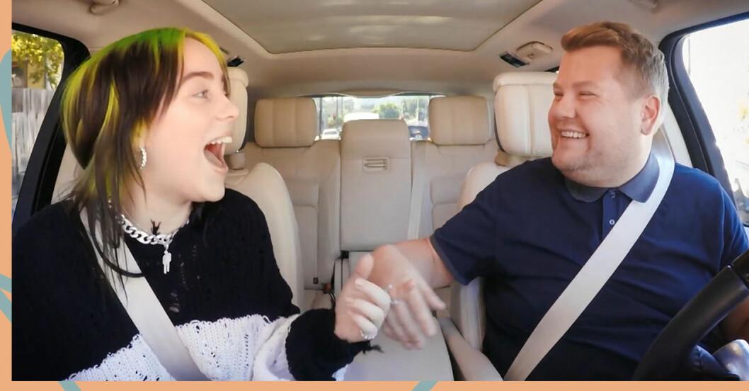 Billie Eilish deltog i Carpool Karaoke med James Corden