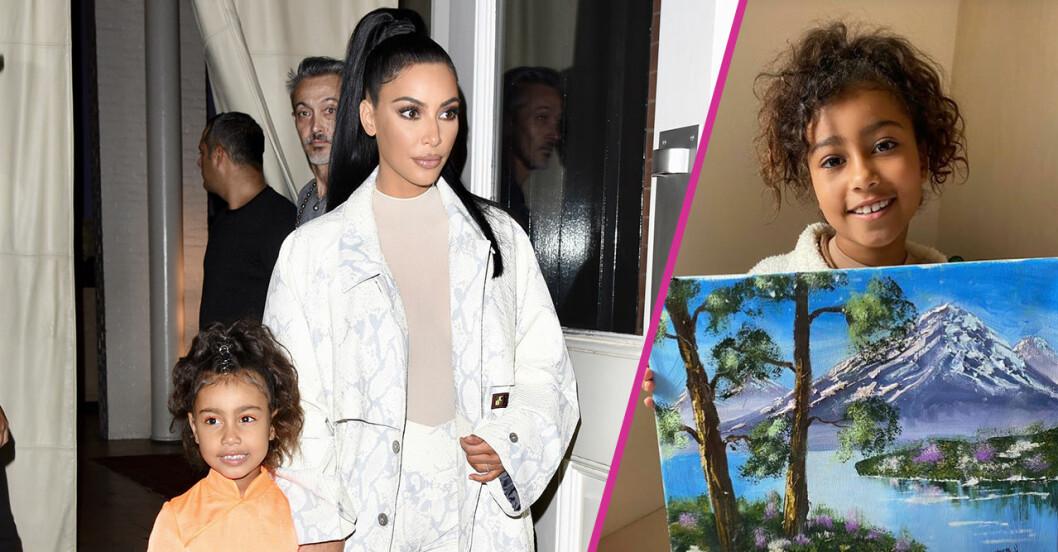 Kim Kardashian fräser efter anklagelserna mot dotterns tavla.