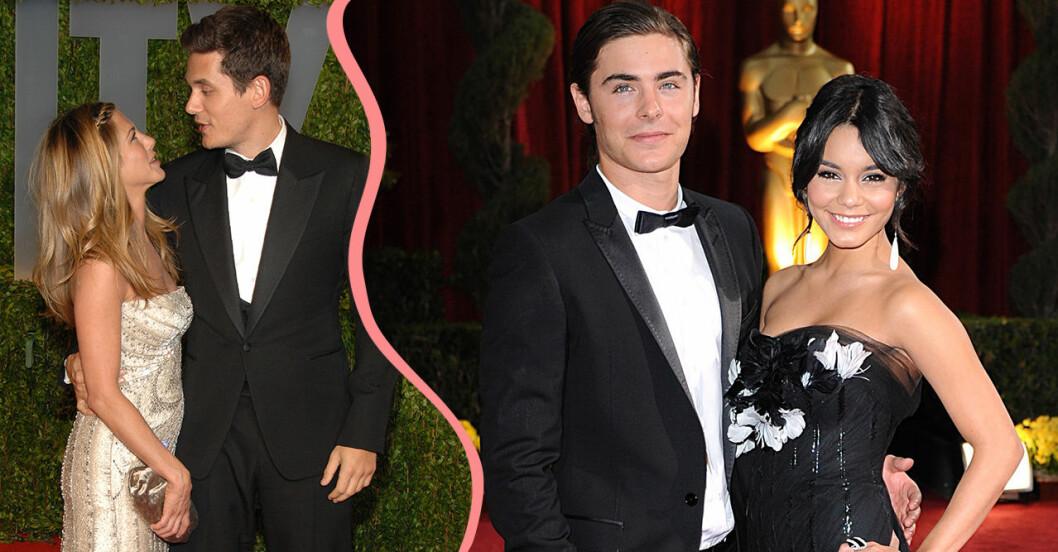 Jennifer Aniston, John Mayer, Zac Efron och Vanessa Hudgens på Oscars