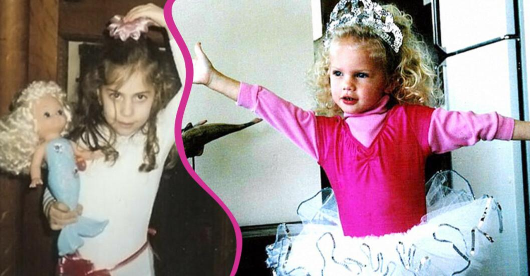 Lady GaGa Taylor Swift som barn
