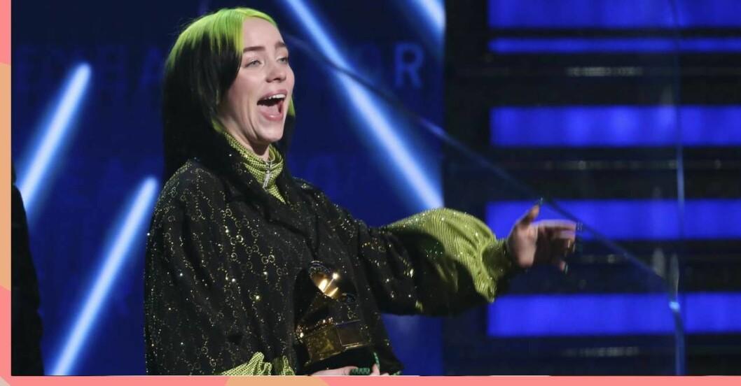 Billie Eilish på Grammy Awards 2020.