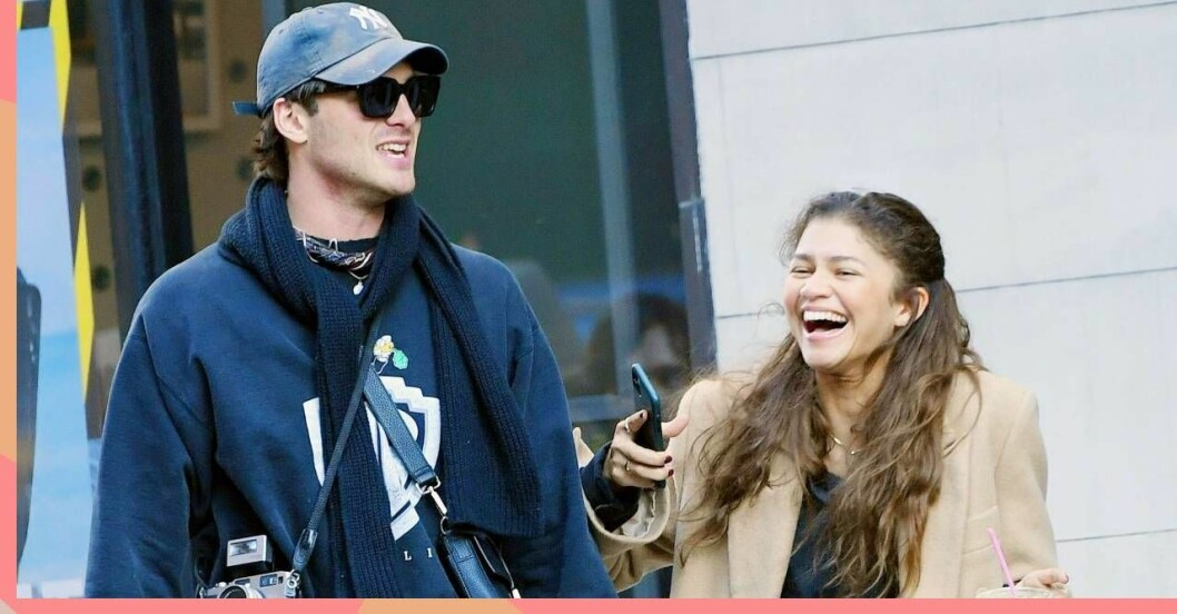 Jacob Elordi och Zendaya i New York.