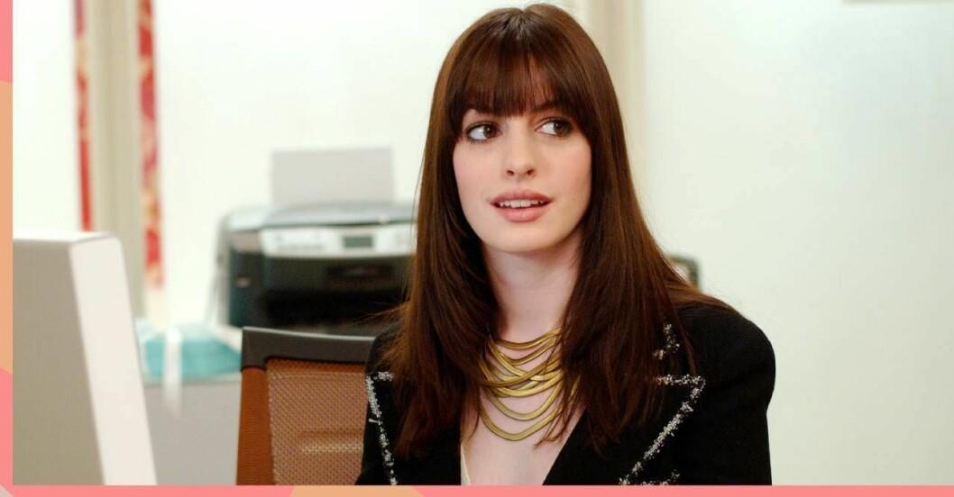 Anne Hathaway i djävulen bär Prada