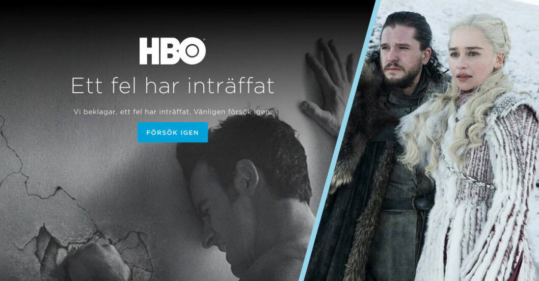 Game of thrones HBO ligger nere