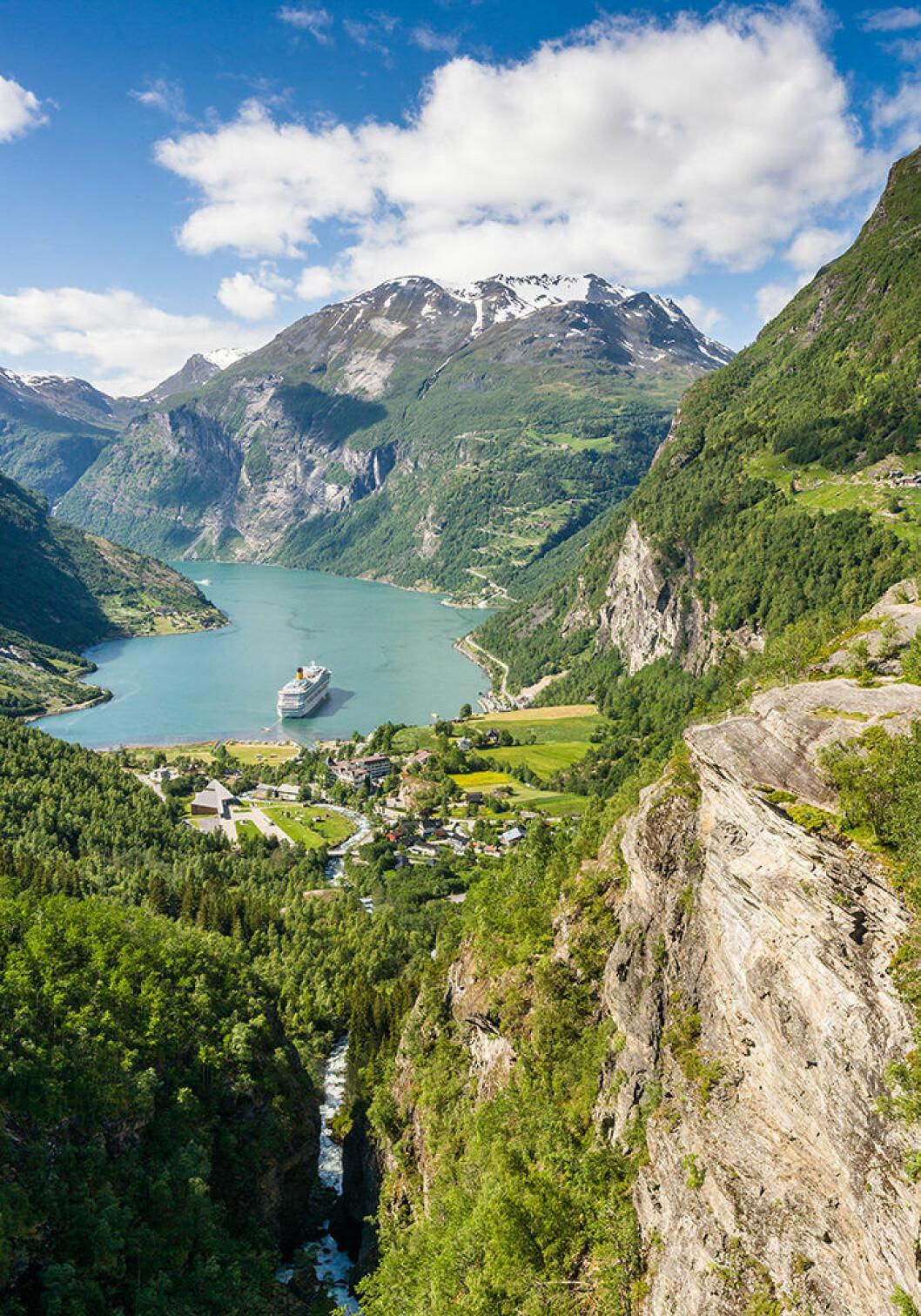 Geirangerfjorden i Norge