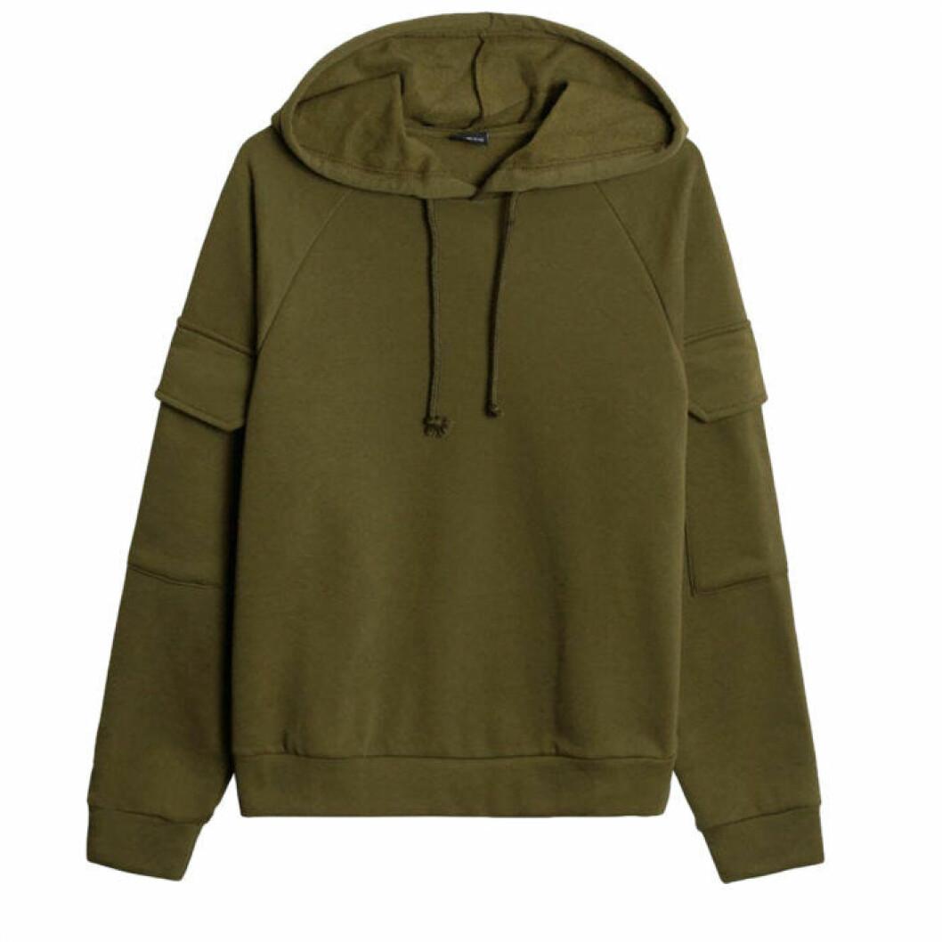 Militärgrön hoodie