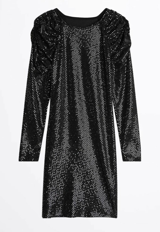 Svart glittrig klänning från Gina tricot och Bianca ingrosso