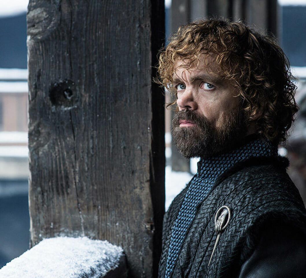 En bild på karaktären Tyrion Lannister från tv-serien Game of Thrones.