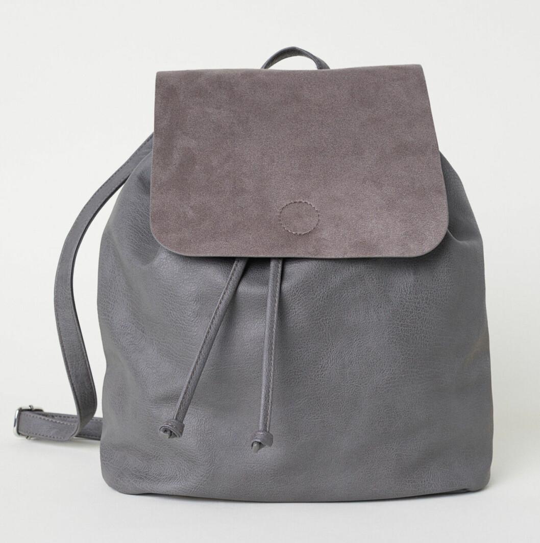Grå liten ryggsäck till skolan