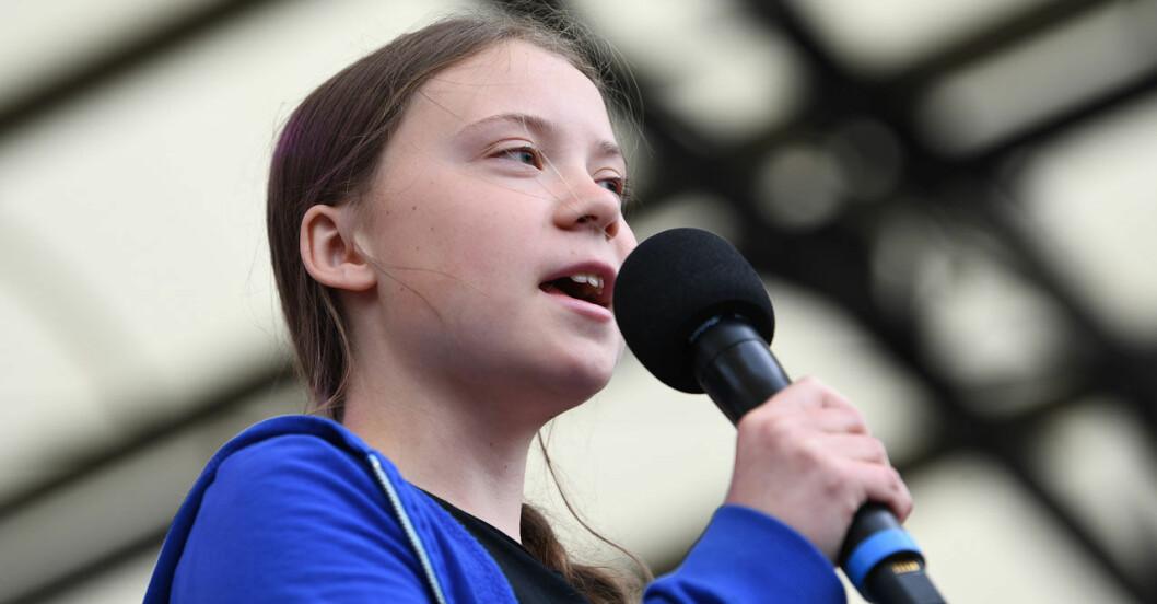 Greta Thunbergs klimatstrejk.