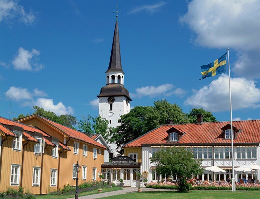 En bild på Gripsholms Värdshus, Sveriges äldsta värdshus.