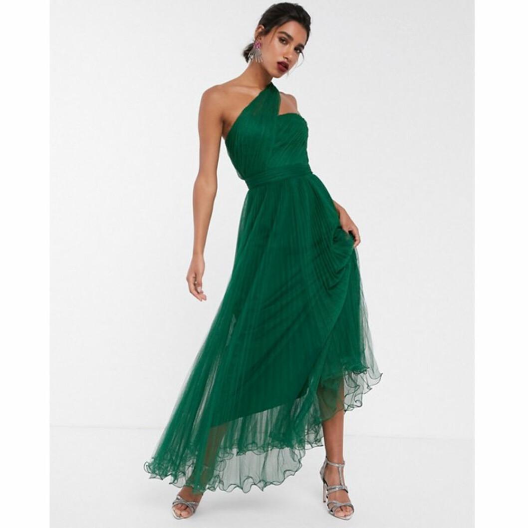 Grön plisserad balklänning från Asos Design