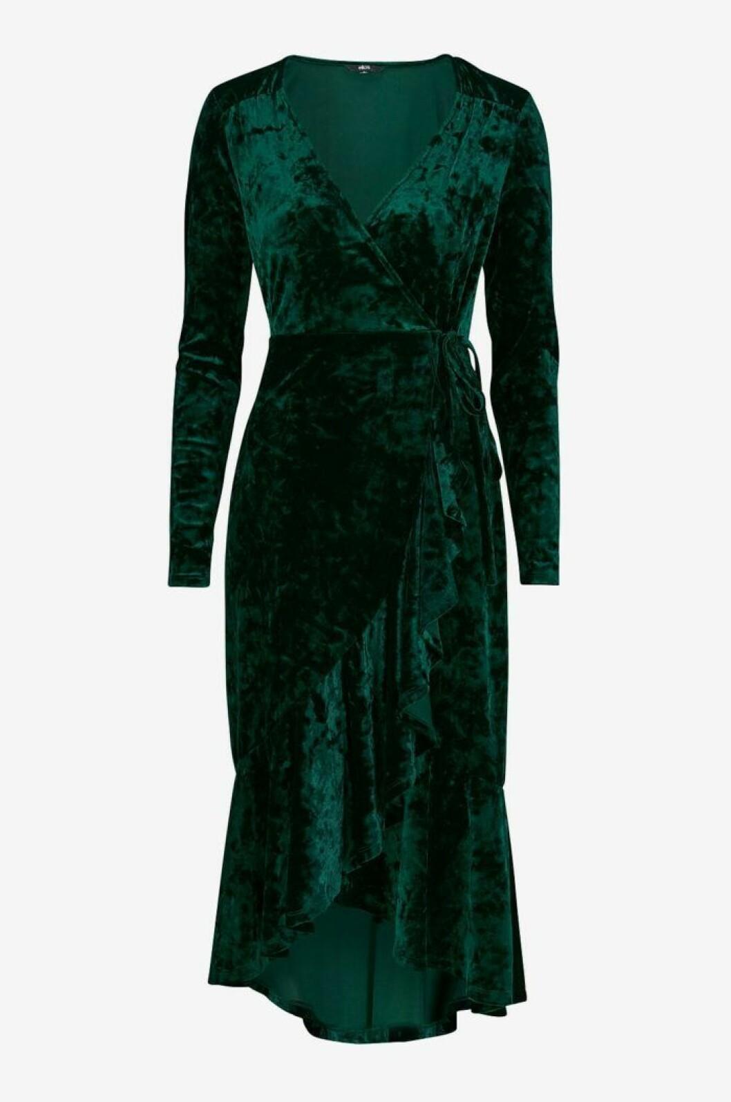 Grön sammetsklänning dam