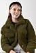 Grön teddyjacka i kort modell för dam till 2019
