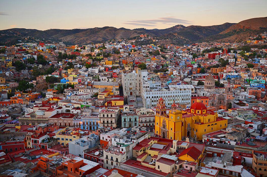 Färgsprakande Guanajuato i Mexiko