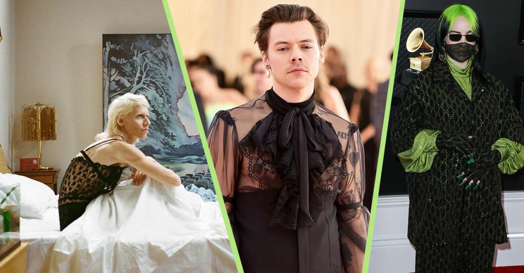 Klipp från Guccifilmen, Harry Styles i Gucci och Billie Eilish i Gucci