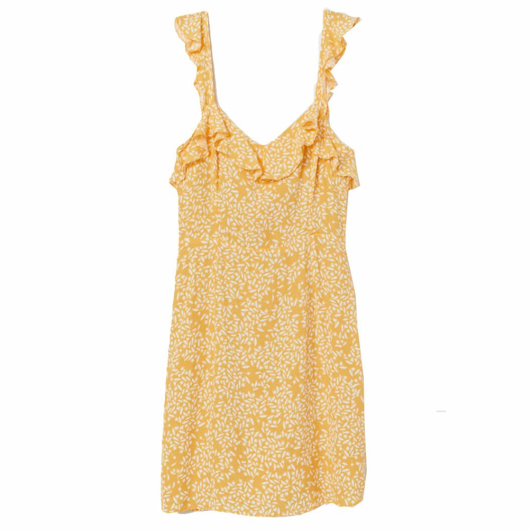 Gul klänning från H&M