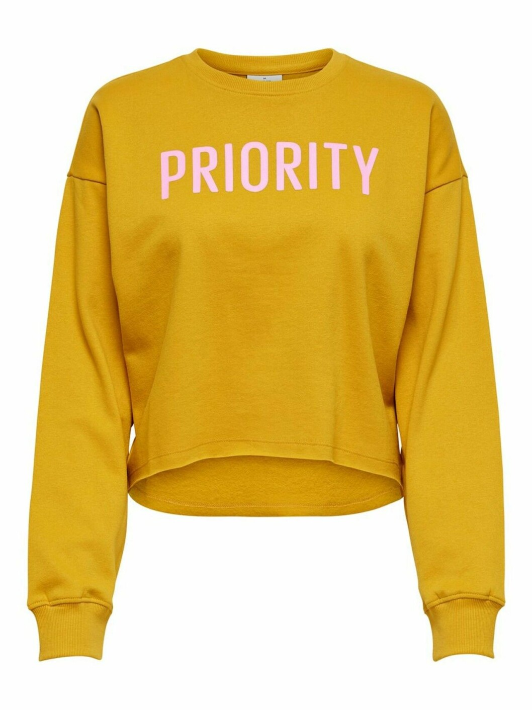 Gul sweatshirt i croppad modell