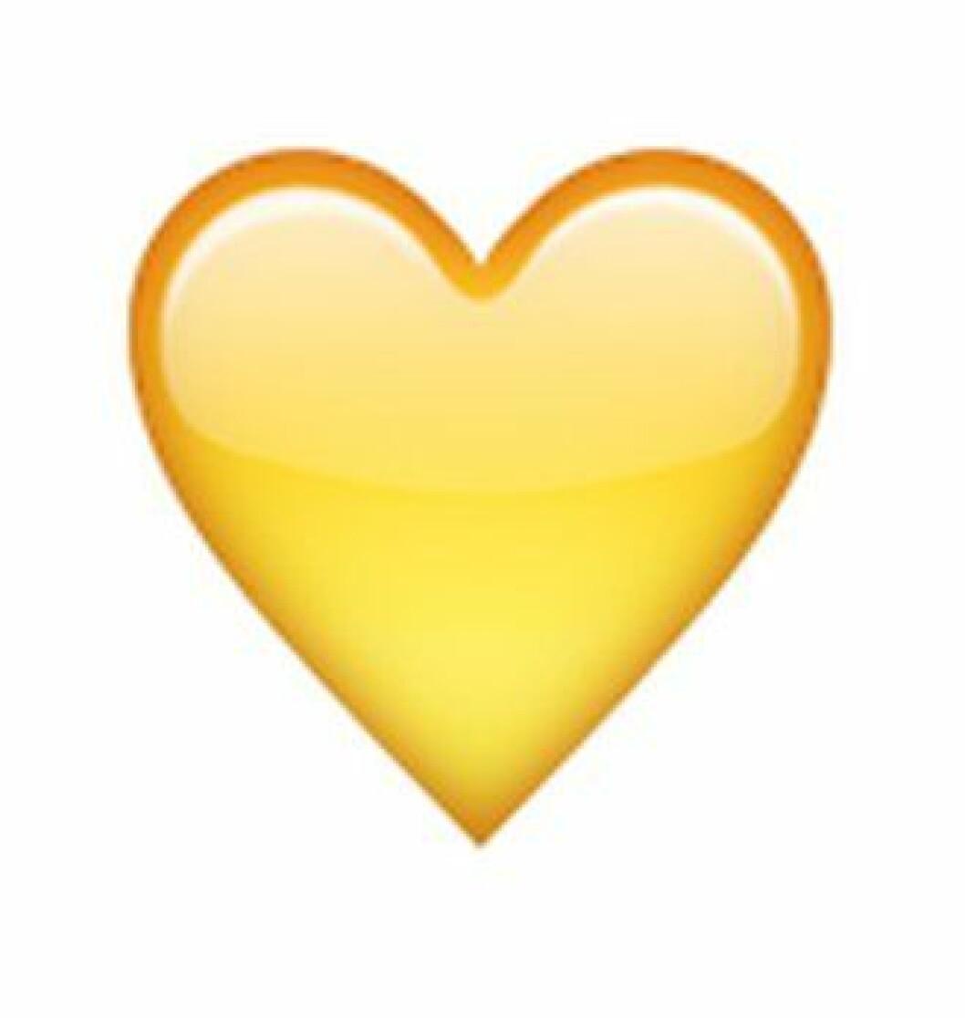 gult hjärta snapchat betyder