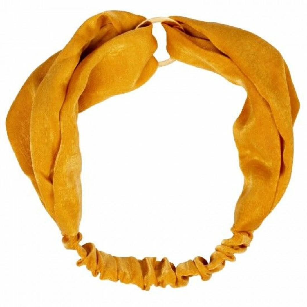 Gul sammetshårband