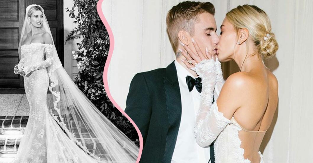 Hailey och Justin Biebers bröllop brudklänning