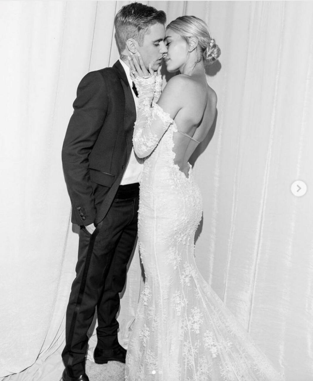 Hailey Bieber och Justin Bieber bröllopsfoto
