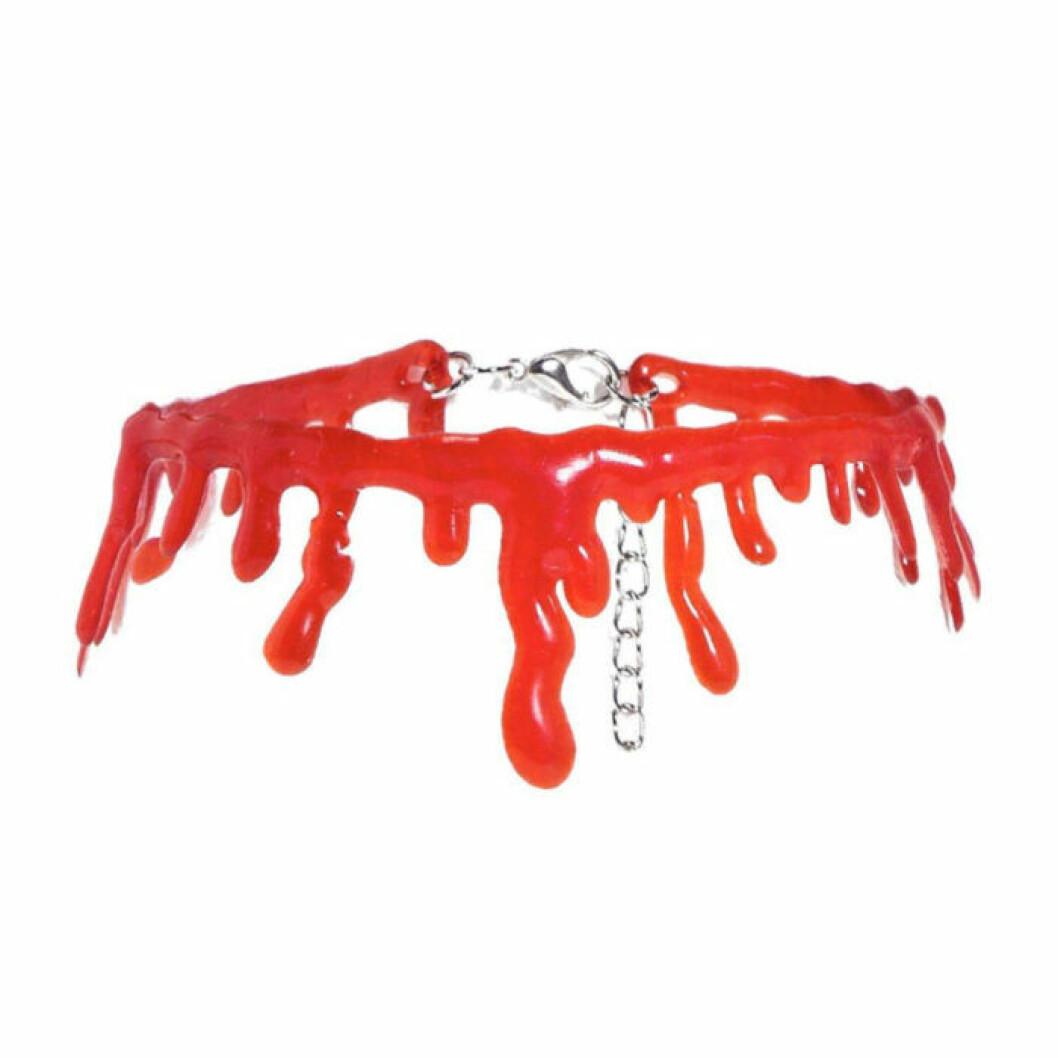 Halsband choker som ser ut som blod