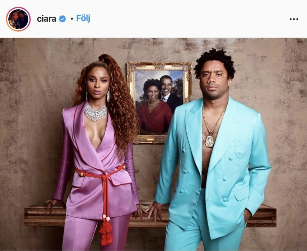 Ciara och Russell Wilson som Beyoncé och Jay-Z