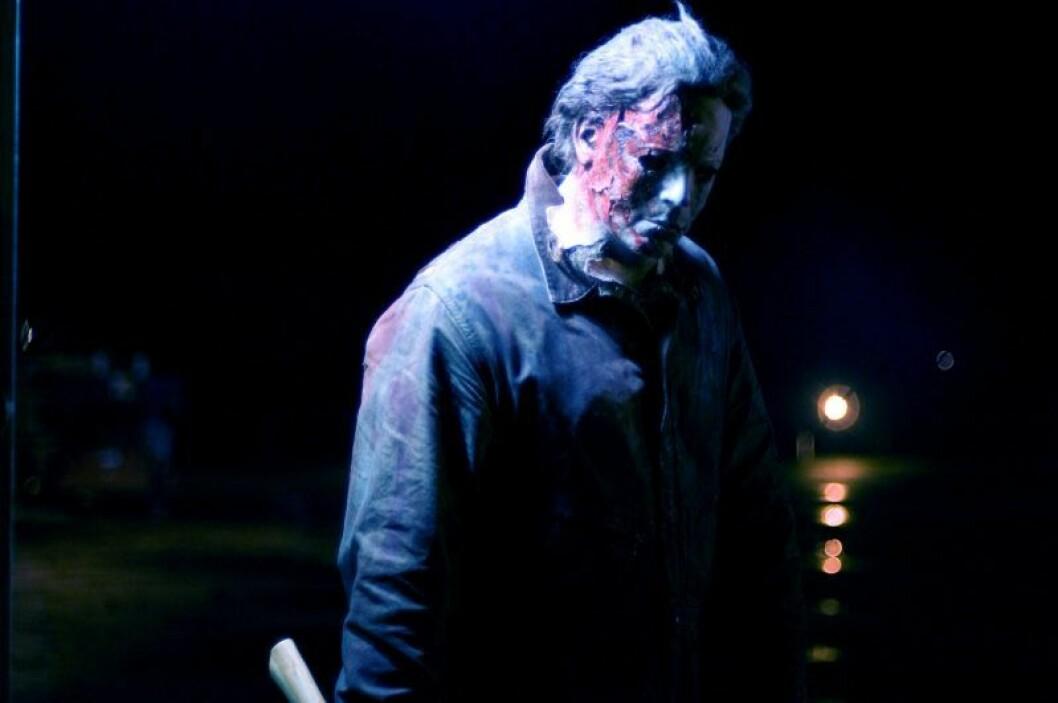En bild från skräckfilmen Halloween, som släpps på Viaplay den 31 oktober.