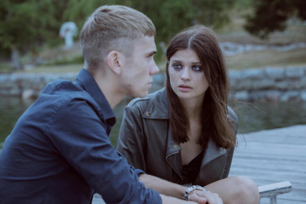 Felix och Hanna spelade in många tuffa scener ihop.