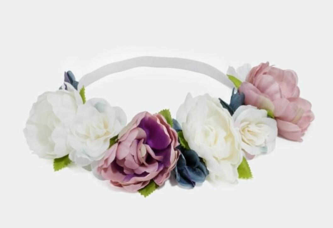 Hårband med blommor till midsommar 2019