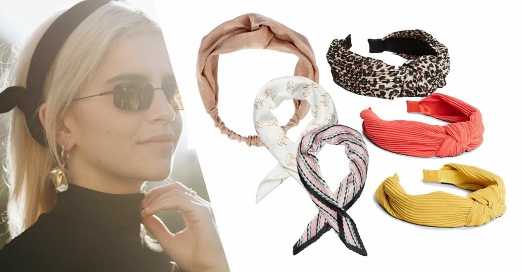 Hårband, diadem och scarfs i butik