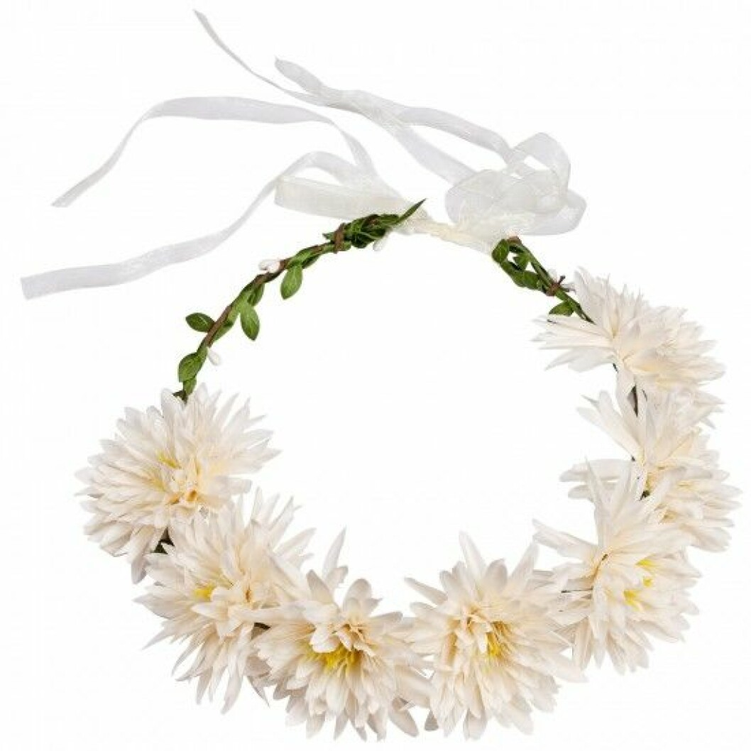 hårkrans blommor