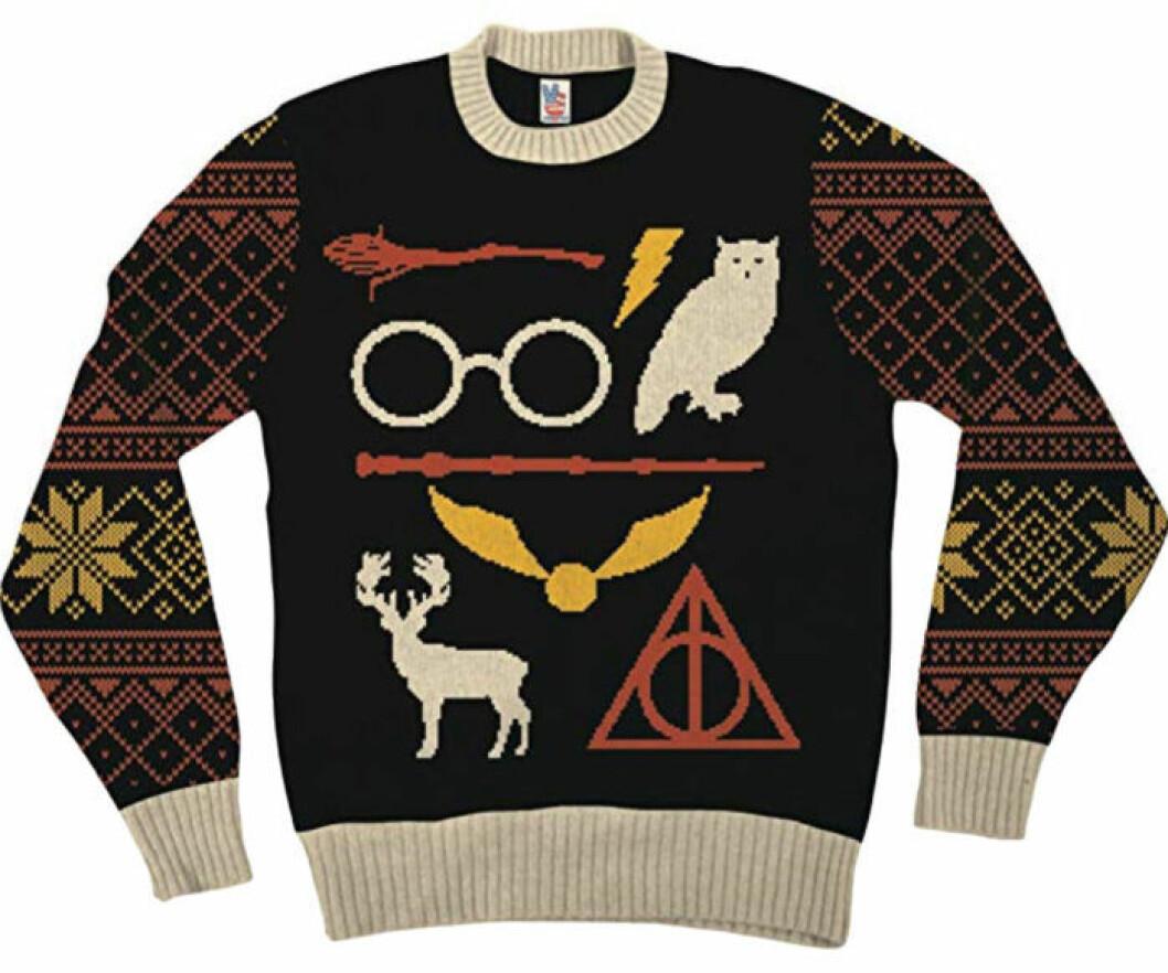 Julsnygg jultröja med Harry Potter-motiv från Amazon