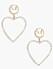 Hjärtformade örhängen till alla hjärtans dag