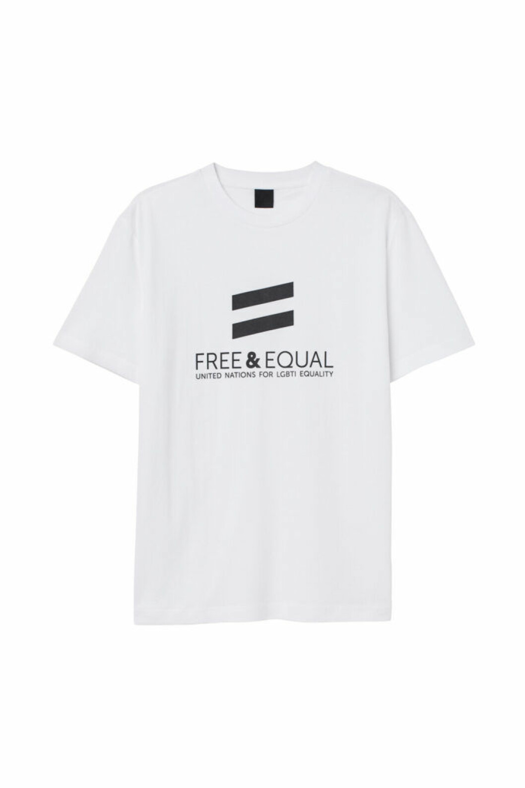 H&M släpper Pridekollektion för 2019 – vit t-shirt med tryck