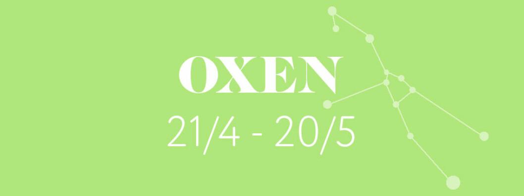 Horoskop vecka 4 2019 – Oxen