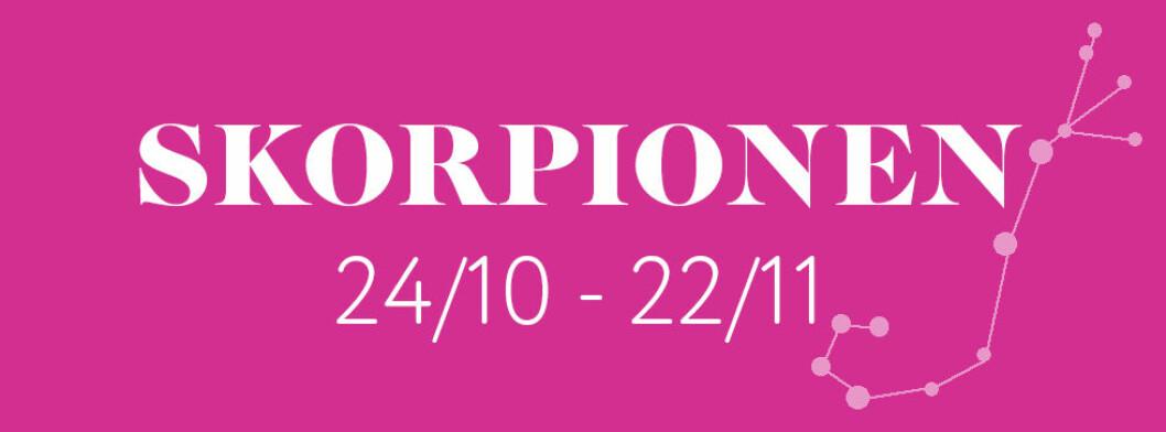 Horoskop vecka 17 2021 för skorpionen