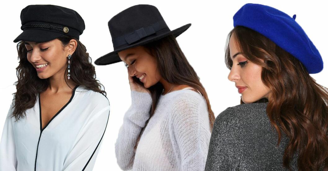 I höst kommer det att vara trendigt med hattar, mössor och kepsar.